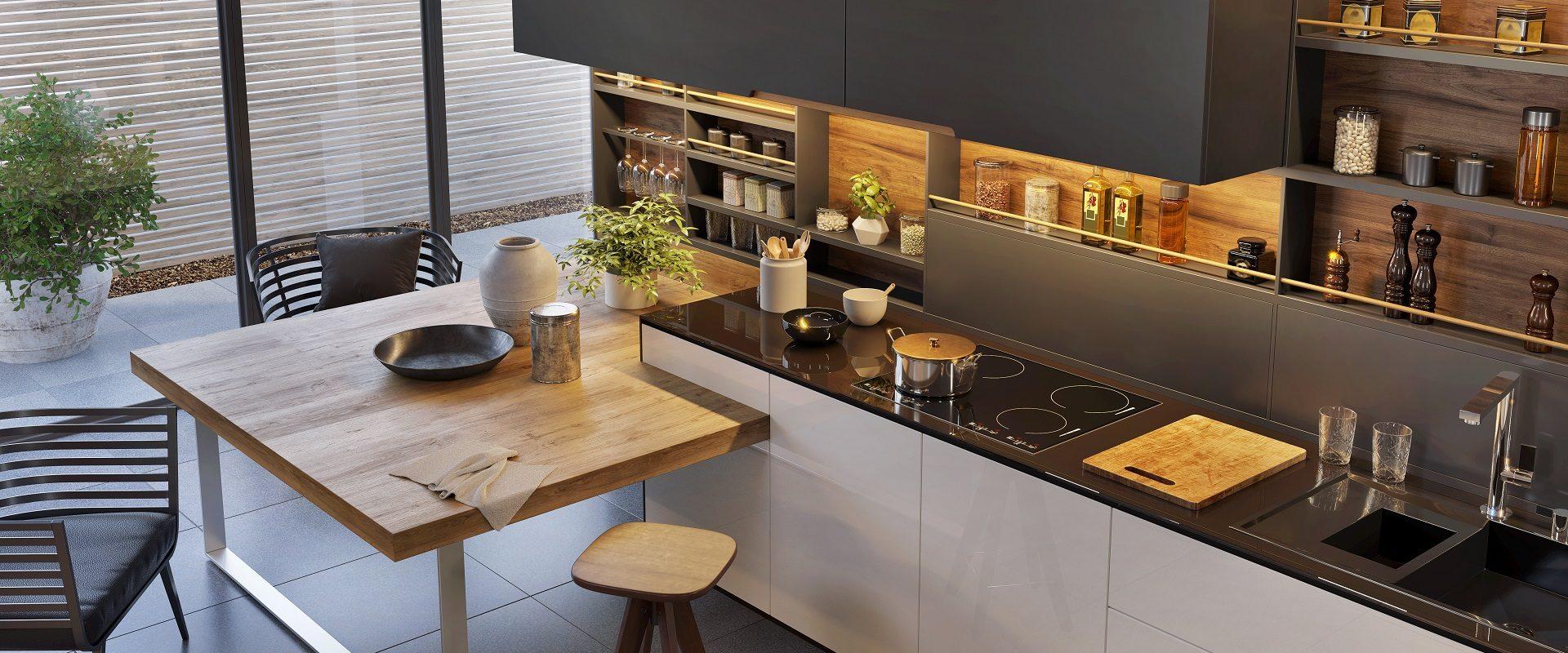 Modern luxury kitchen interior design